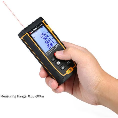 SNDWAY, Medidor de distancia laser digital de mano, telemetro,100m
