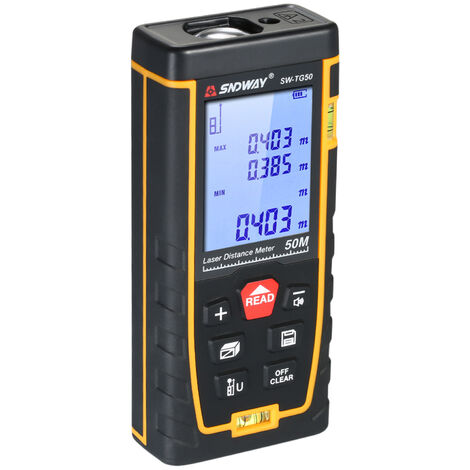 Sndway Numerique Telemetre Laser Mini Range Finder Diastimeter Distance Surface Volume De Mesure (50 M)