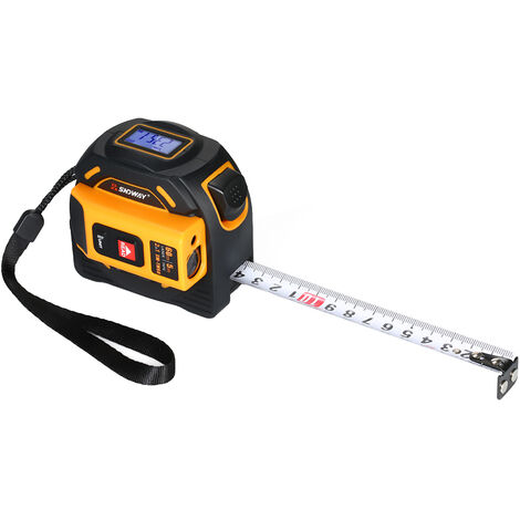 Sndway Telemetre Laser Numerique Telemetre Infrarouge De Poche Telemetre 2 En 1 5 M Ruban a Mesurer 40 M Regle Laser