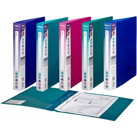 Snopake 10165 Ring Binder 2 Ring A4 Electra Assorted - Pack of 10