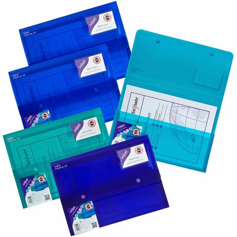 Snopake 11756 Polyplus Electra Assorted Pack 5