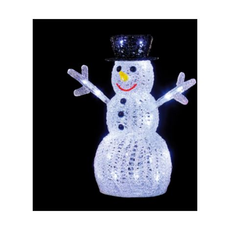 Snowman Acrylic Character with 40 White LED's