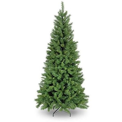 Snowtime Duchess Spruce Slim Artificial Christmas Tree - Green - Various Sizes