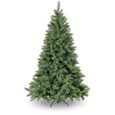 Snowtime Kateson Fir Hinged Artificial Christmas Tree - Green - Various Sizes