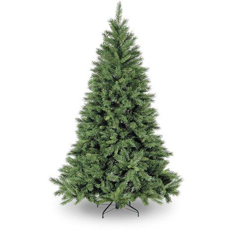 Snowtime Kateson Fir Hinged Artificial Christmas Tree - Green - Various Sizes