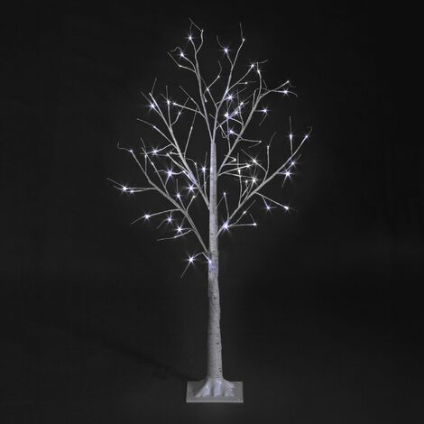 Snowtime Outdoor or Indoor Birch Tree with Ice White LEDs - Various Sizes