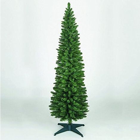"""main image of """"Snowtime Wrapped Pencil Pine Christmas Tree - Green - Various Sizes"""""""