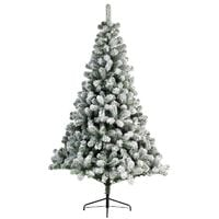 Snowy Imperial Pine White Green Fir Artificial Christmas Xmas Tree - 5 Sizes