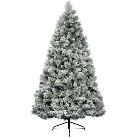 Snowy Vancouver Christmas Tree Frosted Green - 180cm / 6 Foot