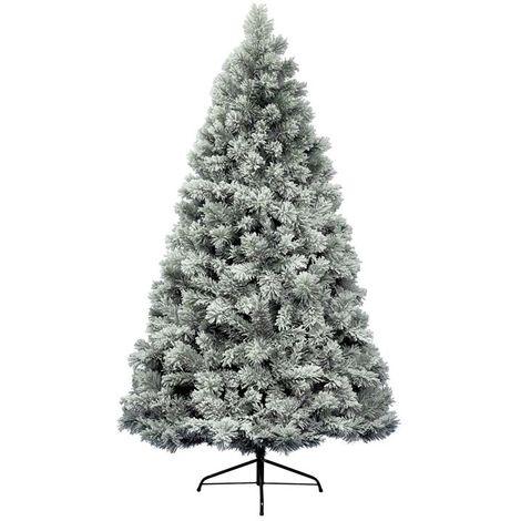 Snowy Vancouver Mixed Pine White Green Artificial Christmas Xmas Tree - 5 Sizes