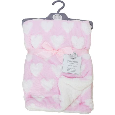 """main image of """"Snuggle Baby Babies Heart Wrap (75 x 100cm) (Pink)"""""""