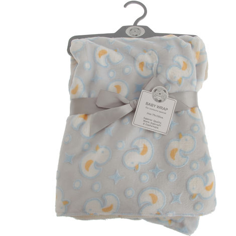 Snuggle Baby Baby Boys/Girls Duck Design Wrap (75cm x 100cm) (Grey/Blue/Yellow)