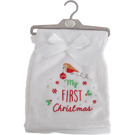 Snuggle Baby Baby Boys/Girls My First Christmas Wrap (75cm x 100cm) (White)