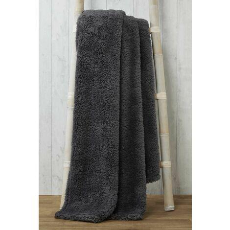Snuggle Charcoal Fleece Blanket Soft Throw Over 150 x 200cm
