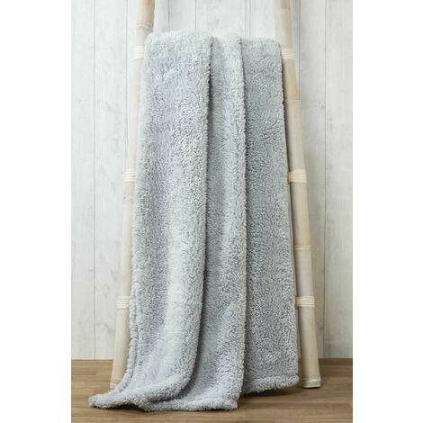 Snuggle Silver Fleece Blanket Soft Throw Over 150 x 200cm