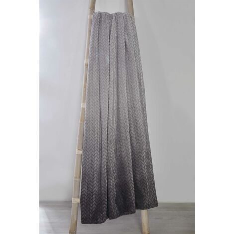 So Soft Ombre Velvet Touch Throw Blanket Sofa Large Throwover Grey 150x200cm OMBRET-1520-GREY