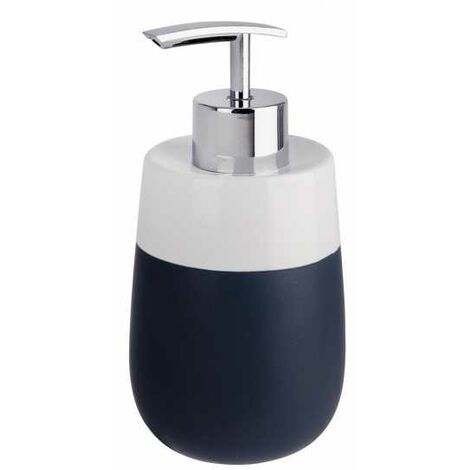 Soap dispenser Malta dark blue/white WENKO