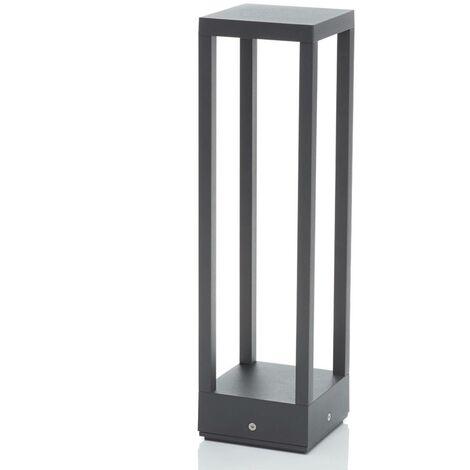 Sobremuro LED Carlota gris oscuro, 50 cm