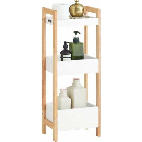 SoBuy 3 Tiers Bathroom Shelf Storage Display Shelf Rack Organizer Shelving Unit FRG226-WN