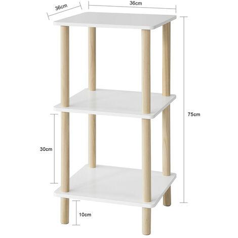 SoBuy 3 Tiers Storage Display Shelf Rack Standing Shelf Unit, Living Room Bathroom Shelf,STR02-K-WN