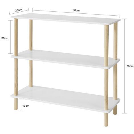 SoBuy 3 Tiers Storage Display Shelf Rack Standing Shelf Unit, Living Room Bathroom Shelf,STR02-WN