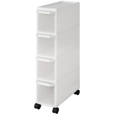 SoBuy 4 Drawers Slide Out Kitchen Cabinet, Bathroom Rack, Tower, FRG41-HG