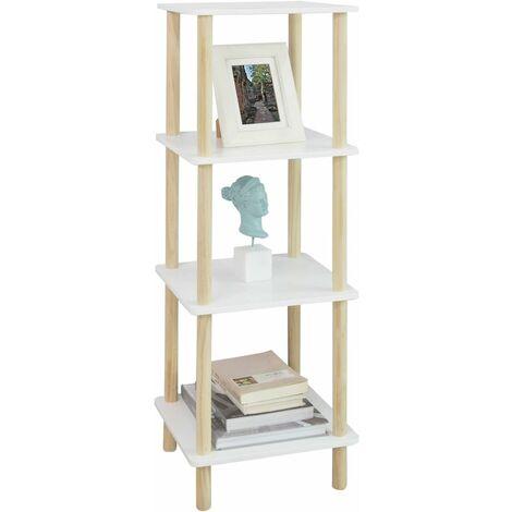 SoBuy 4 Tiers Storage Display Shelf Rack Standing Shelf Unit Bathroom Shelf,
