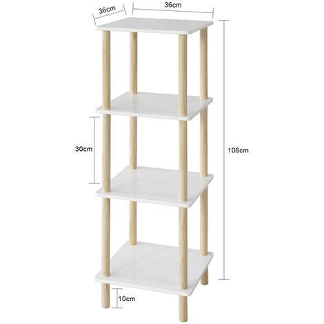 SoBuy 4 Tiers Storage Display Shelf Rack Standing Shelf Unit,STR03-K-WN