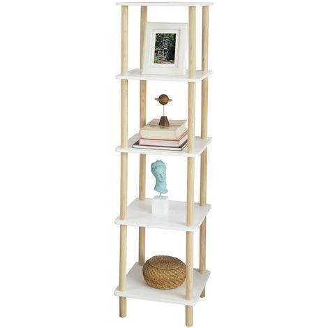 SoBuy 5 Tiers Storage Display Shelf Rack Standing Shelf Unit, Living Room Bathroom Shelf,STR04-K-WN