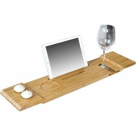 SoBuy Badewannenablage, Badewannenauflage, Halterung / Halter für Tablett oder Handys, FRG104-N
