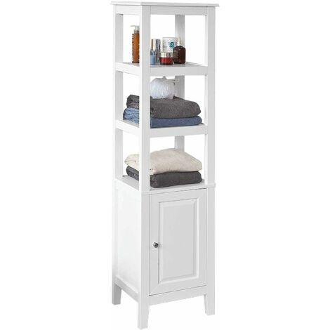 SoBuy Badezimmer-Hochschrank Badregal Badschrank FRG205-W