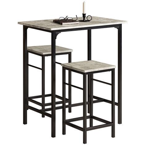 SoBuy Bar Set-1 Bar Table and 2 Stools, Home Kitchen Breakfast Bar Set,OGT10-HG