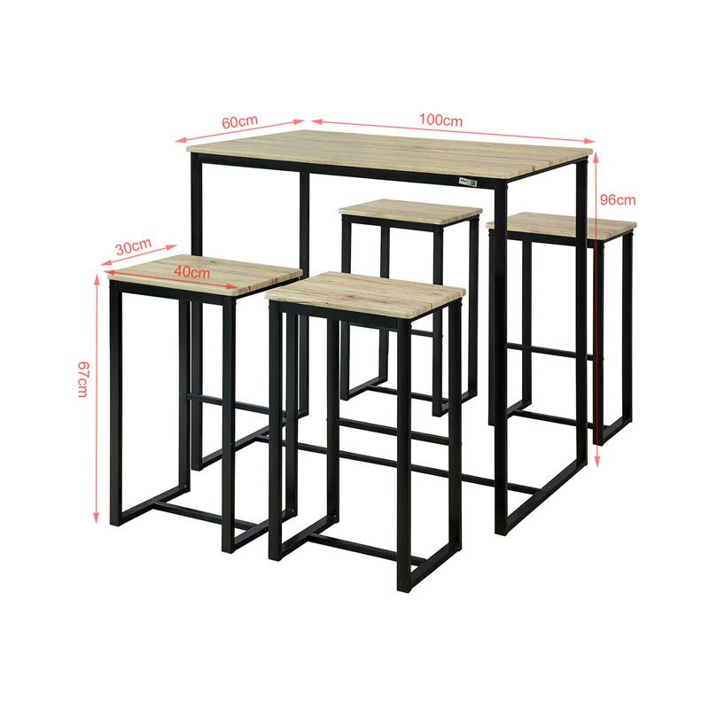 So Bar Set 1 Table And 4 Stools Home Kitchen Breakfast Furniture Dining Ogt15 N
