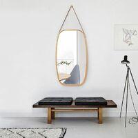 SoBuy BZR12-N Espejo de Pared para Pasillo,41 cm x 77 cm,bambú,ES