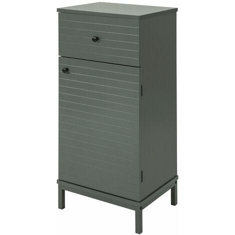 SoBuy BZR26-DG Armario de Madera para Cuarto de baño con cajón 40 x 30 x 83cm ES