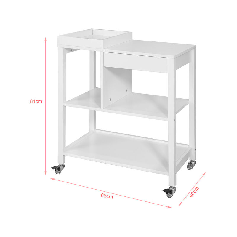 SoBuy® Carrito de cocina, estantería de cocina, mesa auxiliar cocina ...
