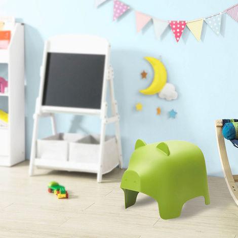 SoBuy Children Chair Stool Plastic Chair Pig Design Green KMB14-GR