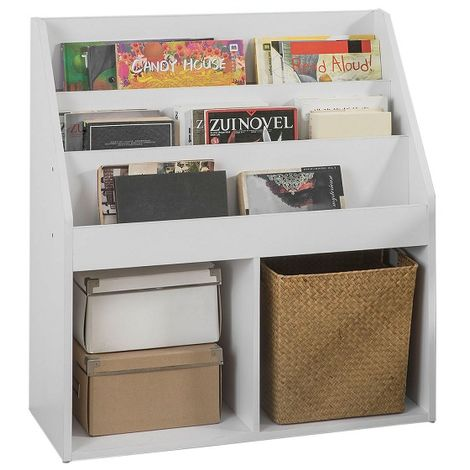 SoBuy Children Kids Bookcase Book Shelf Storage Display Rack Holder,KMB01-W