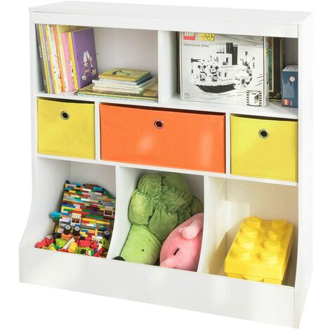 SoBuy Children Kids Bookcase Book Shelf Toy Storage Unit Storage Display Shelf,KMB26-W