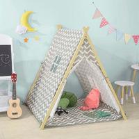 SoBuy Children Kids Play Tent Playhouse with Floor Mat OSS02-HG