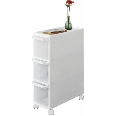 """main image of """"SoBuy® Estantería de cocina, estantería de baño con ruedas, estantería para nichos - 4 cajones, FRG41-HG, ES"""""""