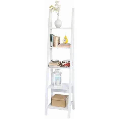 SoBuy® Estanterias libreriastanterias de diseñotantería de esquina, blanco, FRG101-W, ES