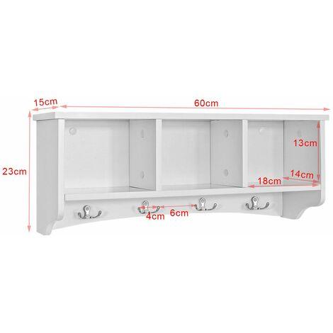 SoBuy® Estantes de pared, Armario suspendido, Estanteria para trasteros, blanco, FRG48-W, ES