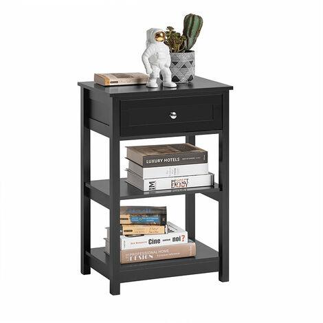 SoBuy® FBT46-SCH Mesa auxiliar con 1 cajón, Consola, mesita de noche para salón comedor, teléfono o lampara