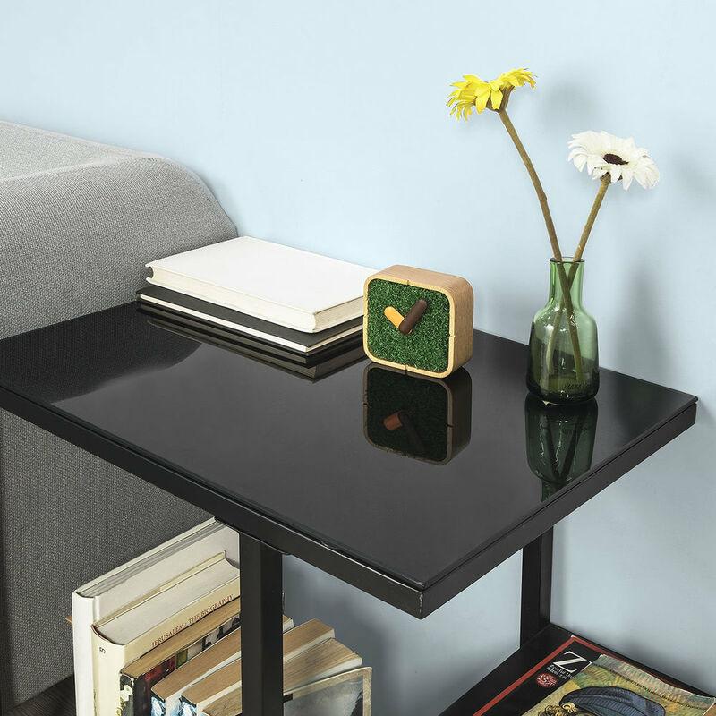 SoBuy® FBT65-SCH,ES Mesa auxiliar con 3 estantes, Consola,mesita de noche  para salón comedor, teléfono o lampara