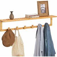 SoBuy Flurgarderobe,Wandgarderobe,Handtuchhalter aus Bambus,FHK06-N