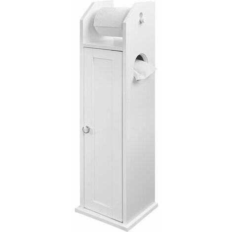 SoBuy Freistehend weiß Toilettenrollenhalter, Seitenschrank, FRG135-W