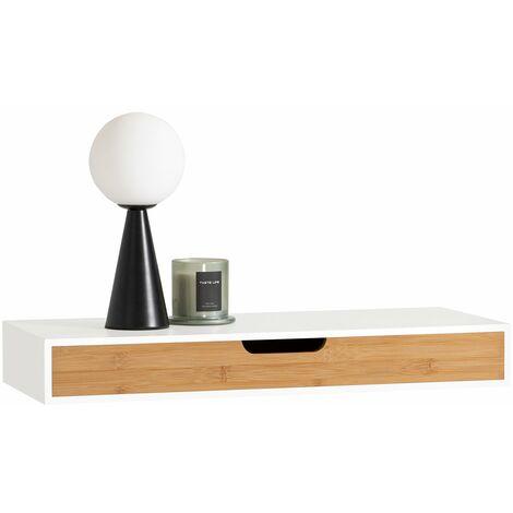 SoBuy® FRG93-WN, Estante de pared con cajón, Estante estantería para la Sala, estilo moderno, ES