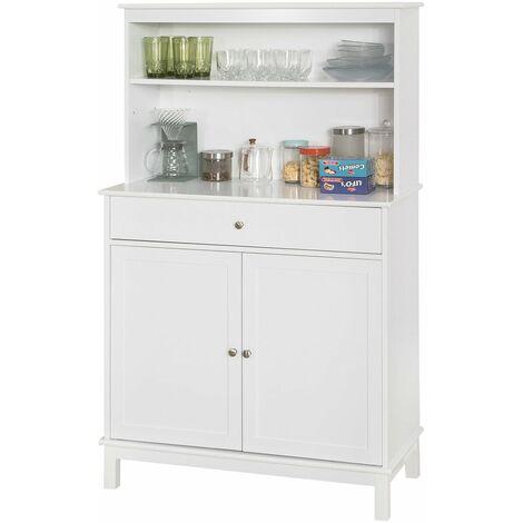 SoBuy FSB26-W Aparador Cocina Cómoda Armario de almacenamiento Buffet de cocina L90 x D40 x H148cm ES
