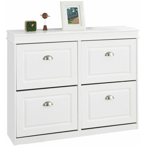 """main image of """"SoBuy FSR82-K-W Banco Zapatero con 1 Cajón Organizador para Zapatos 60 x 24 x 51 cm ES"""""""